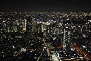 新宿副都心ビルの空撮の写真素材 [FYI00477674]