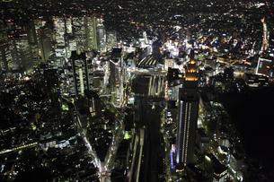 新宿駅周辺の空撮の写真素材 [FYI00477675]