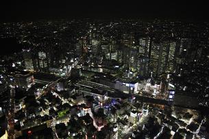 新宿駅周辺の空撮の写真素材 [FYI00477677]