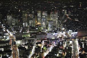 新宿副都心ビルの空撮の写真素材 [FYI00477680]