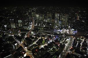 新宿駅周辺の空撮の写真素材 [FYI00477682]