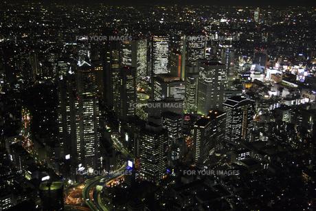 新宿副都心ビルの空撮の写真素材 [FYI00477685]