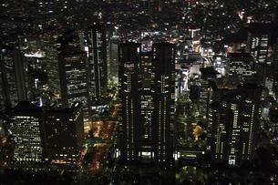 新宿副都心周辺の空撮の写真素材 [FYI00477701]