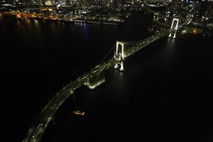 レインボーブリッジの空撮の写真素材 [FYI00477714]