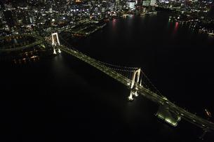 レインボーブリッジの空撮の写真素材 [FYI00477719]