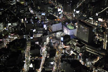 渋谷駅周辺の空撮の写真素材 [FYI00477724]