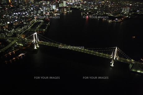 レインボーブリッジの空撮の写真素材 [FYI00477725]