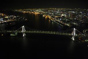 レインボーブリッジの空撮の写真素材 [FYI00477728]