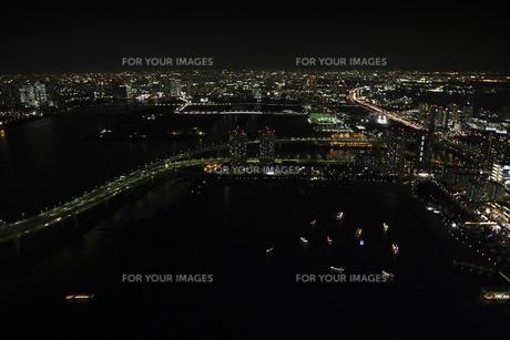お台場周辺の空撮の写真素材 [FYI00477731]