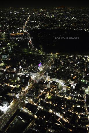 表参道周辺の空撮の写真素材 [FYI00477736]
