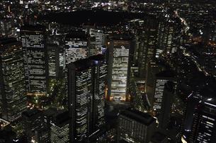 新宿副都心周辺の空撮の写真素材 [FYI00477738]