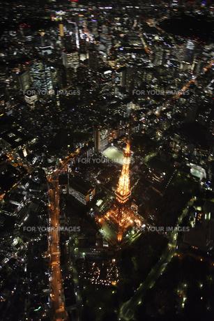 東京タワーの空撮の写真素材 [FYI00477752]