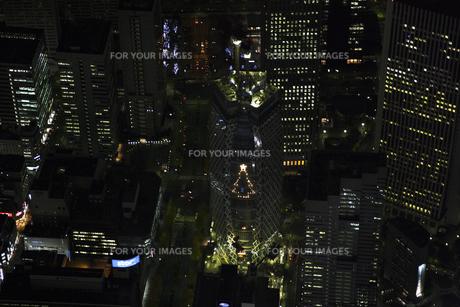 新宿周辺の空撮の写真素材 [FYI00477761]