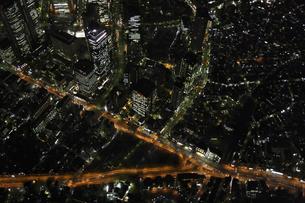 新宿周辺の空撮の写真素材 [FYI00477764]