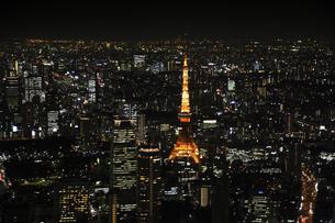 東京タワー周辺の空撮の写真素材 [FYI00477765]