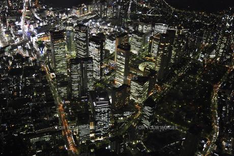 新宿副都心周辺の空撮の写真素材 [FYI00477766]