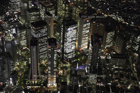 新宿副都心周辺の空撮の写真素材 [FYI00477768]