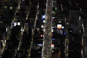 銀座中央通りの空撮の写真素材 [FYI00477773]