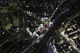 新宿大ガード周辺の空撮の写真素材 [FYI00477810]