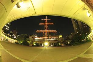 竹芝ふ頭公園周辺の夜景の写真素材 [FYI00477870]