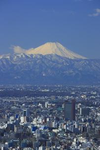 新宿方面の街並みと富士山の写真素材 [FYI00477875]