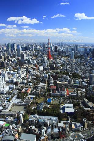六本木から東京タワーの写真素材 [FYI00477898]