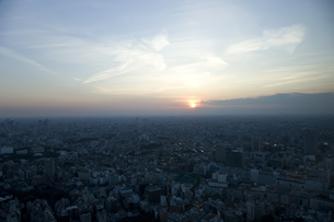 東京の夕暮れの写真素材 [FYI00478848]