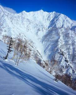 厳冬期・鹿島槍ヶ岳の写真素材 [FYI00480197]