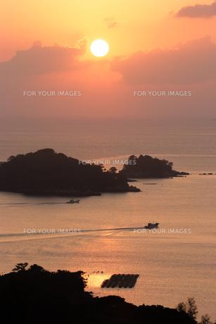 九十九島の夕日の素材 [FYI00480240]