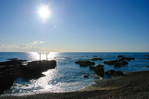 午前の大洗海岸の写真素材 [FYI00480263]