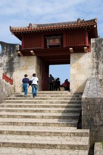 首里城の石段の写真素材 [FYI00480395]