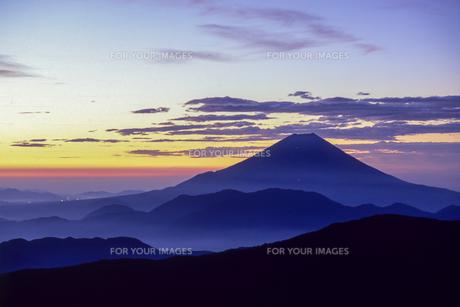 夜明けの富士の素材 [FYI00480476]