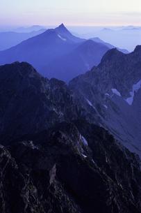 槍ヶ岳の朝、Yarigatake morningの写真素材 [FYI00480556]