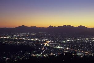 盛岡の夜景、Morioka of night viewの素材 [FYI00480565]