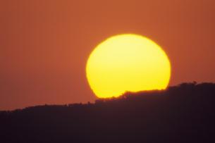 曽我山から昇る太陽、Rising sun from Soga Mt.の写真素材 [FYI00480568]
