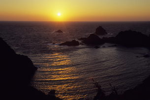 入江の日没、Cove of sunsetの写真素材 [FYI00480593]
