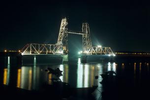 夜の昇開橋の素材 [FYI00480701]
