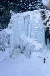 氷結の善五郎の滝の写真素材 [FYI00480705]