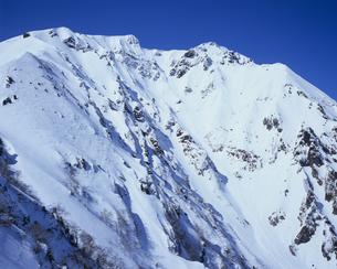 雪景の谷川岳の写真素材 [FYI00480768]