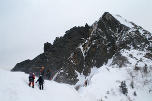 雪山への挑戦の写真素材 [FYI00480829]