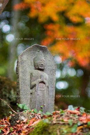 石仏の微笑みの写真素材 [FYI00480855]