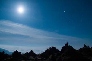 蔵王の星空の写真素材 [FYI00480904]
