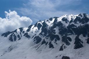 残雪の立山の写真素材 [FYI00480989]