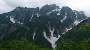 残雪の剣岳の素材 [FYI00481053]