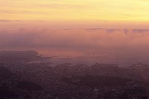 天狗山より望む小樽港の朝風景の素材 [FYI00481122]