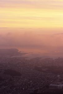 天狗山より望む小樽港の朝風景の素材 [FYI00481123]