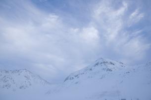初冬の立山連峰の写真素材 [FYI00481311]