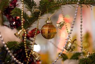 きらきらクリスマスの飾りの素材 [FYI00481355]