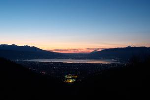 遠望・諏訪湖の写真素材 [FYI00481365]