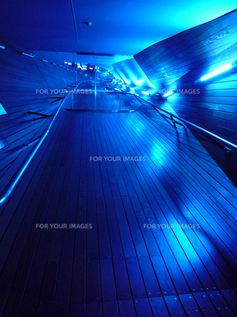 横浜大桟橋・紫色のトンネルの写真素材 [FYI00481368]